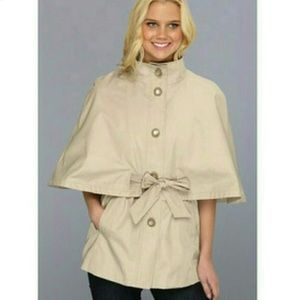 Betsey johnson NWT belted cape trench coat